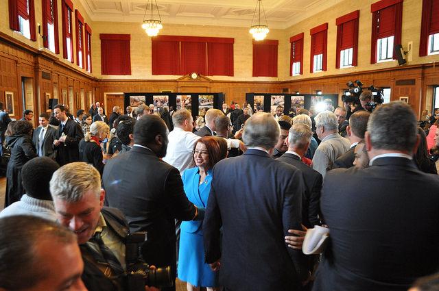 crowd at Apprenticeship Program announcement