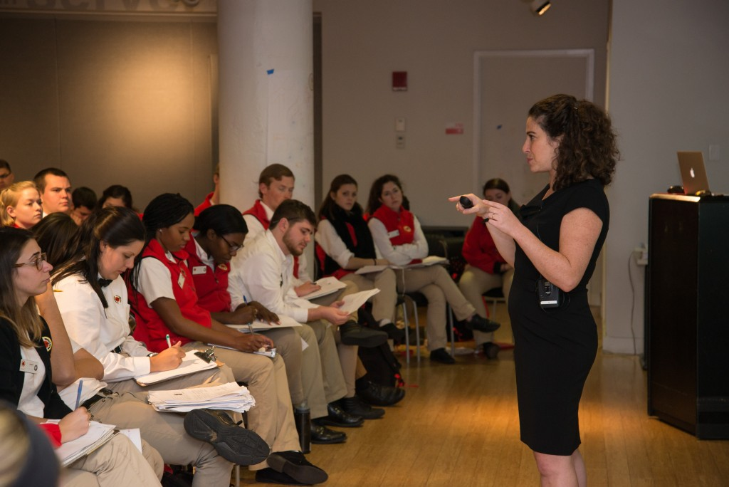 Jessie Gerson trains City Year volunteers