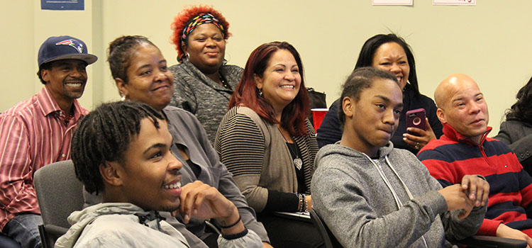 "Job-seekers cross ""bridge"" to job training"